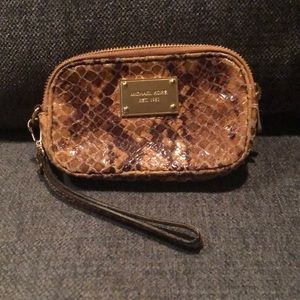 Animal print Michael Kors wristlet